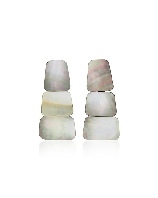 Monies Multicolor Ines Shell Clip Earrings