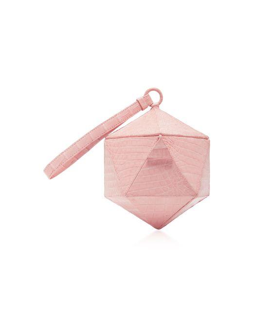 Nancy Gonzalez   Pink Hexagon Crocodile Clutch   Lyst