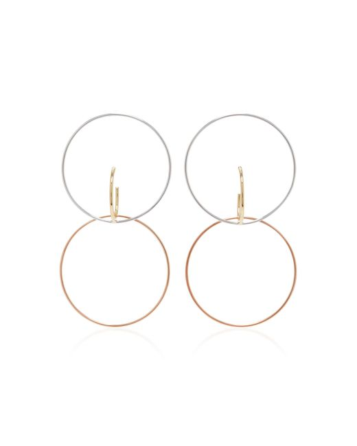 Charlotte Chesnais | Metallic Galilea Gold-dipped And Silver Hoop Earrings | Lyst