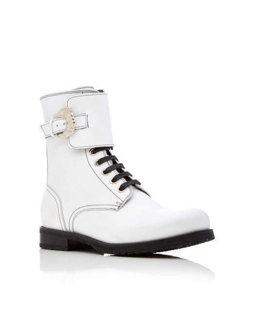 dorateymur combat boot in white lyst