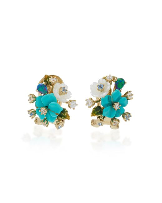 Anabela Chan | Blue Turquoise Bouquet Earrings | Lyst
