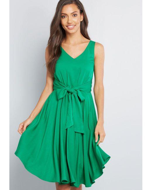 d491244d47a ModCloth - Green Brilliant Motivation Sleeveless Dress - Lyst ...