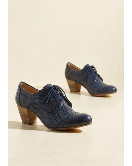 ModCloth   Blue Bravo, Milano Oxford Heel In Navy   Lyst