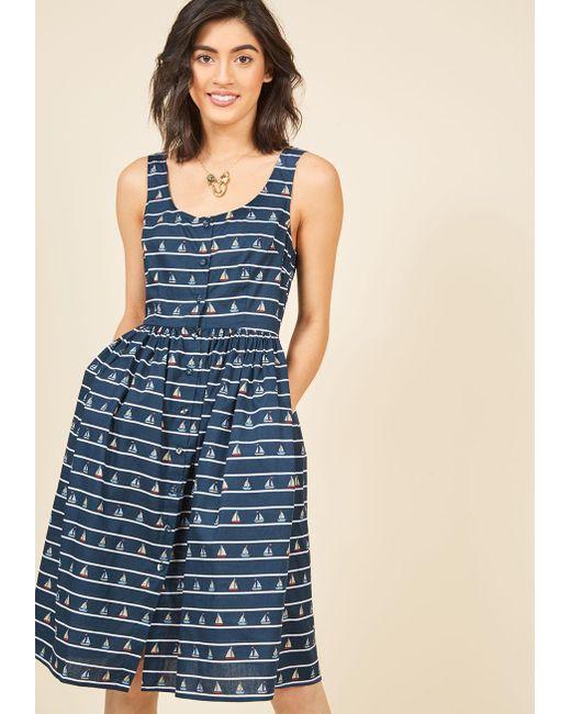 Sugarhill | Blue Mast Appeal Midi Dress | Lyst