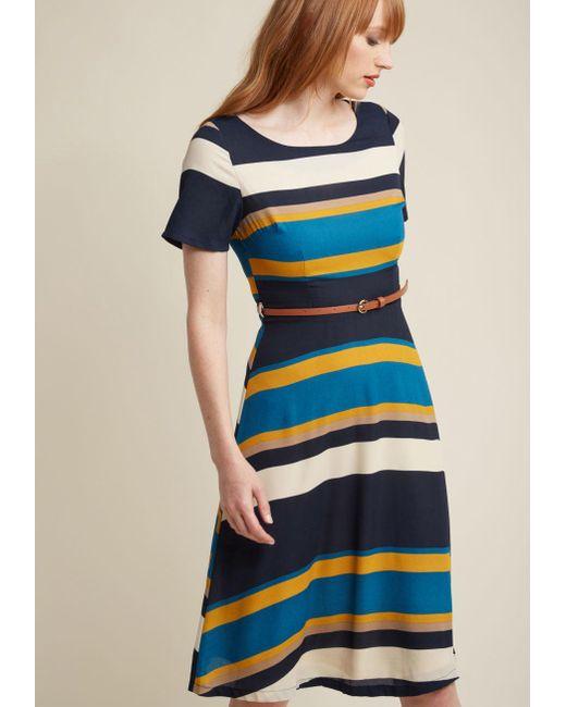 Sugarhill   Blue Ennoble The Everyday A-line Dress   Lyst