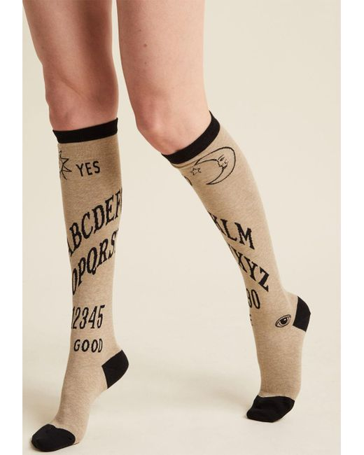ModCloth | Natural I Get The Message Knee Socks | Lyst