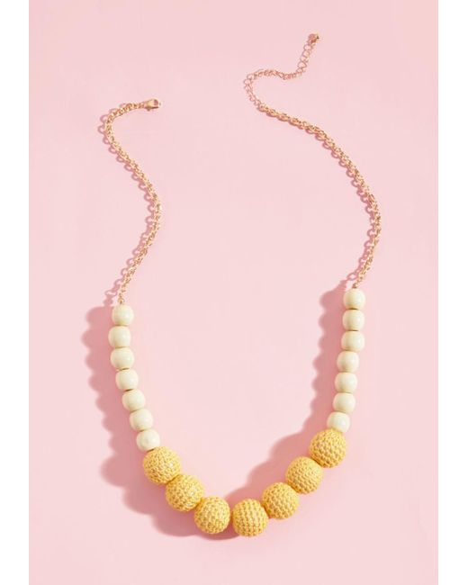 ModCloth   Yellow Do As You're Bold Necklace   Lyst
