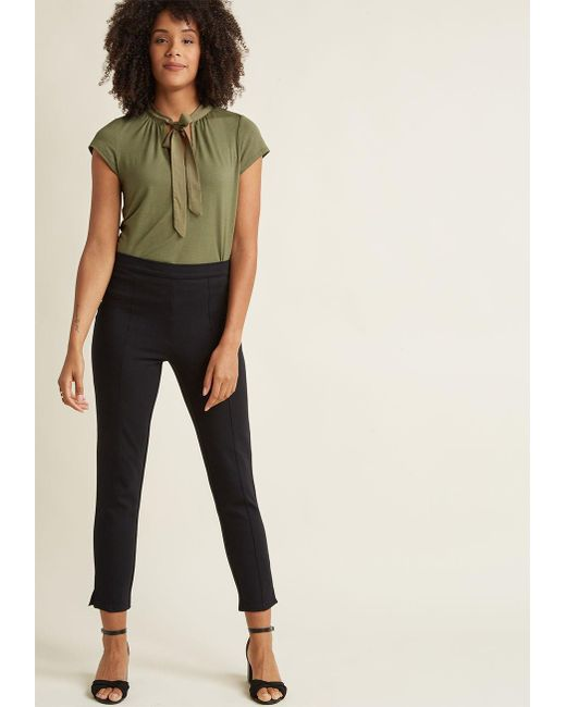 ModCloth   You Raise A Good Ponte Pants In Black   Lyst