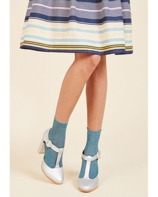 ModCloth | There's A Fine, Fine Shine Socks In Blue | Lyst