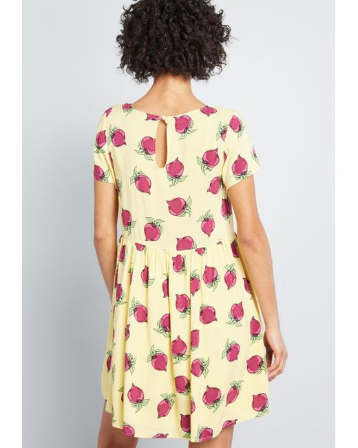 bf163ee68a ... ModCloth - Yellow Sway Into Style Babydoll Dress - Lyst ...