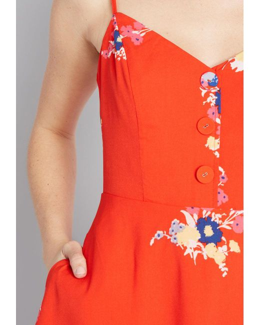 b53b36517a04 ... ModCloth - Red Living Lightheartedly Sundress - Lyst ...