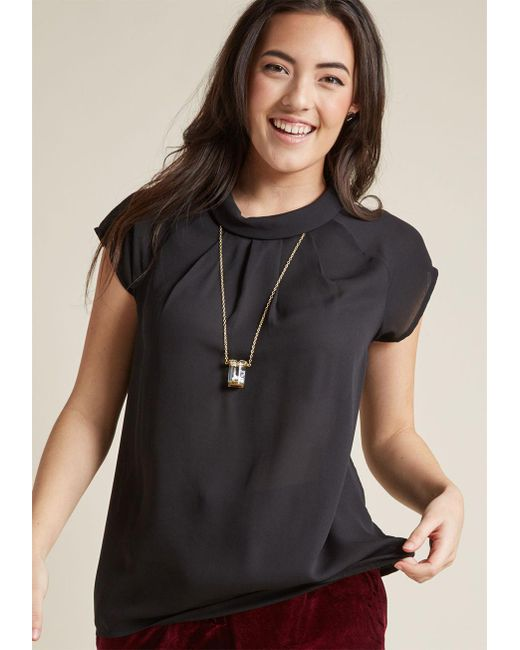 ModCloth | Black Your Flairs Are Answered Top | Lyst