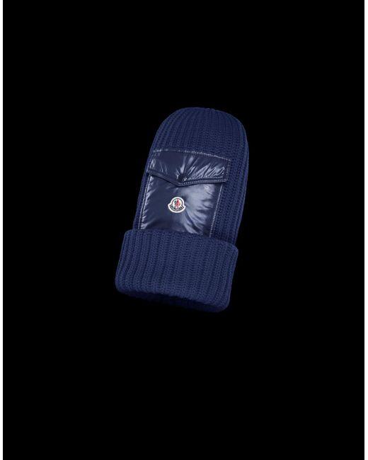 Moncler - Blue Hat for Men - Lyst ... 0980e0927ec