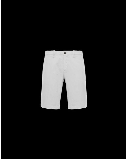 d0a41abb3 Moncler Bermuda Shorts in White for Men - Lyst