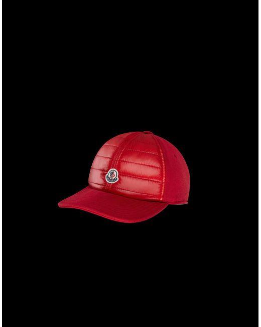 12381e84105 Moncler - Red Hat for Men - Lyst ...