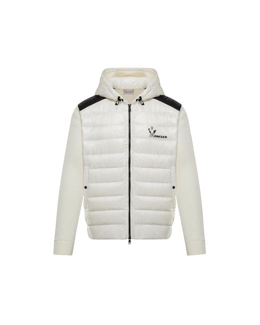 Moncler White Lined Sweater for men