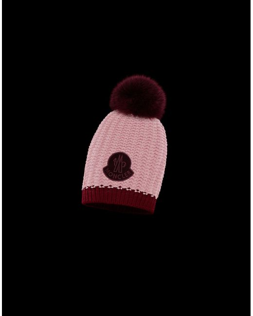 5e50feef253 Moncler - Pink Hat - Lyst ...