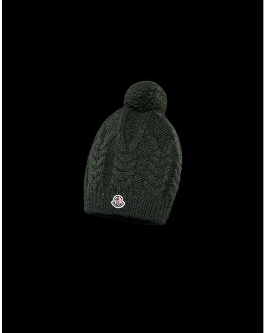 a3e7a24ad07 Moncler - Green Hat - Lyst ...