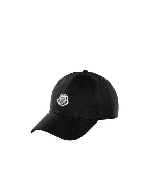 Moncler Black Baseball Hat for men