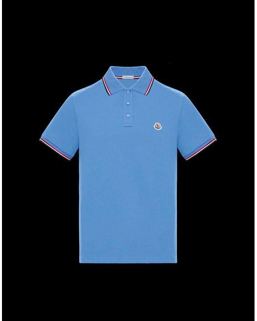 Moncler Blue Polo for men