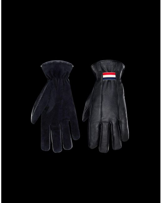 Moncler - Black Gloves for Men - Lyst ...