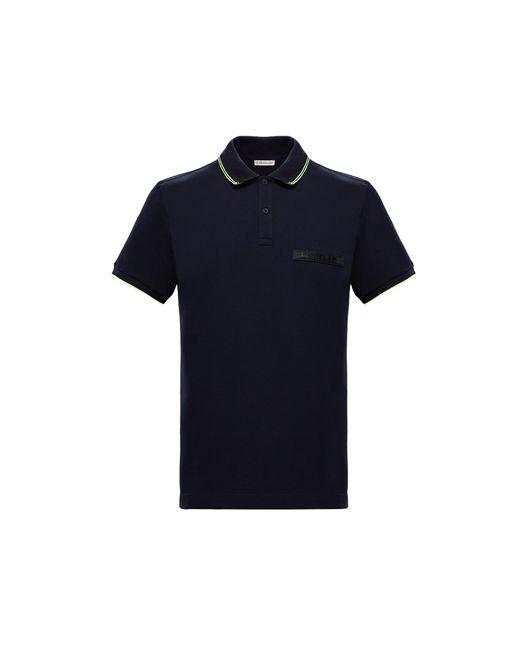 Moncler Blue Polo Shirt for men