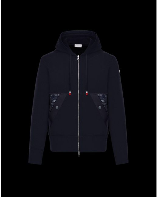 4b65c5401 Moncler Sweatshirt in Blue for Men - Lyst