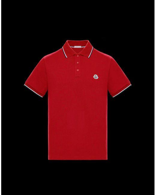 Moncler Red Polo for men