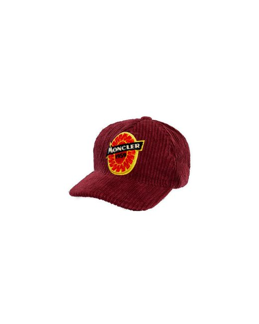 Moncler Red Baseball Hat for men