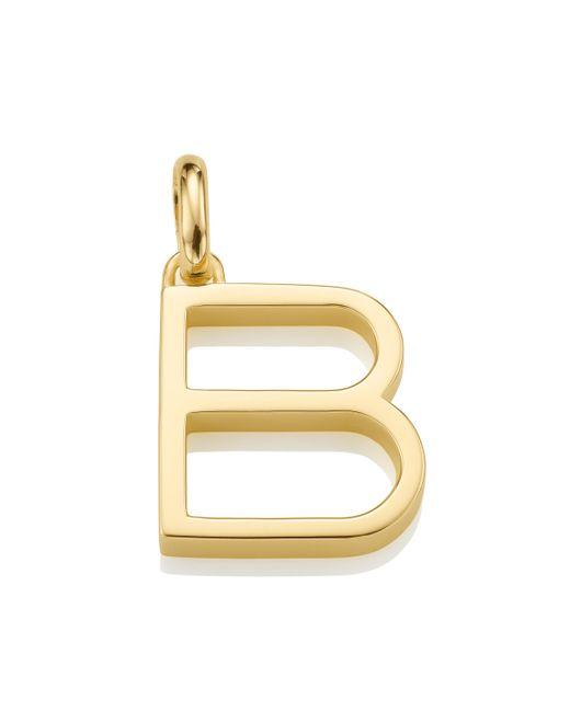 Monica Vinader - Metallic Alphabet Pendant B - Lyst