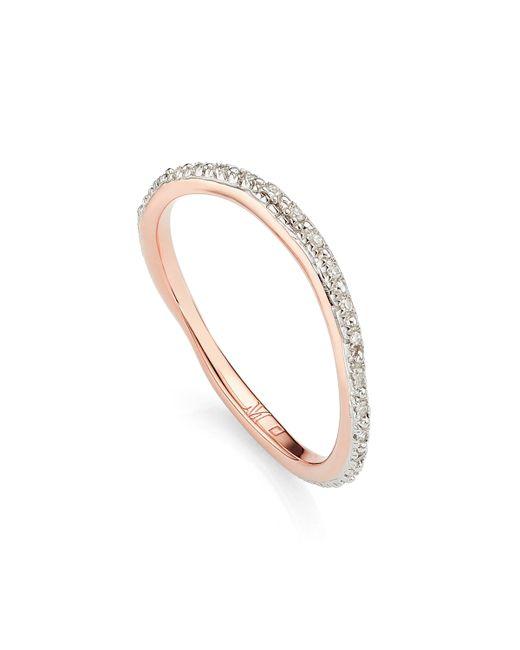 Monica Vinader - Multicolor Riva Wave Eternity Diamond Ring - Lyst