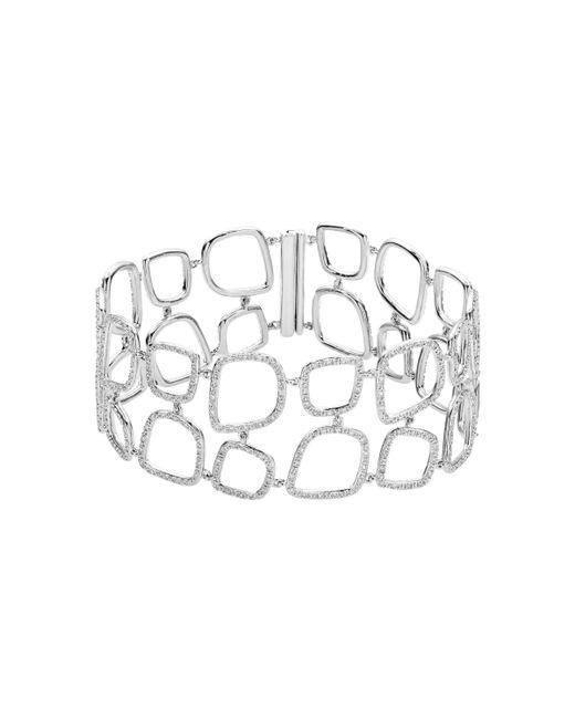 Monica Vinader   Metallic Riva Diamond Cluster Cuff   Lyst