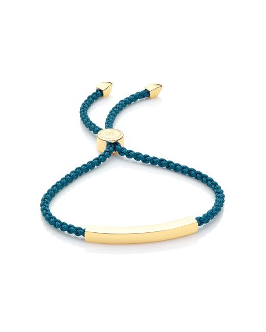 Monica Vinader - Blue Linear Friendship Bracelet - Lyst