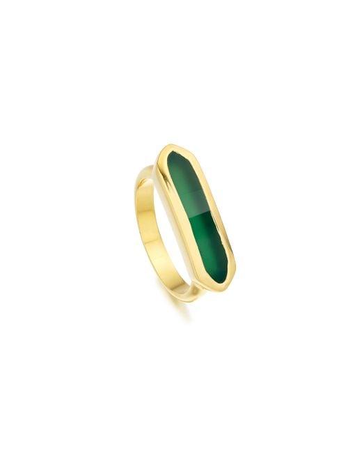 Monica Vinader | Green Baja Ring | Lyst