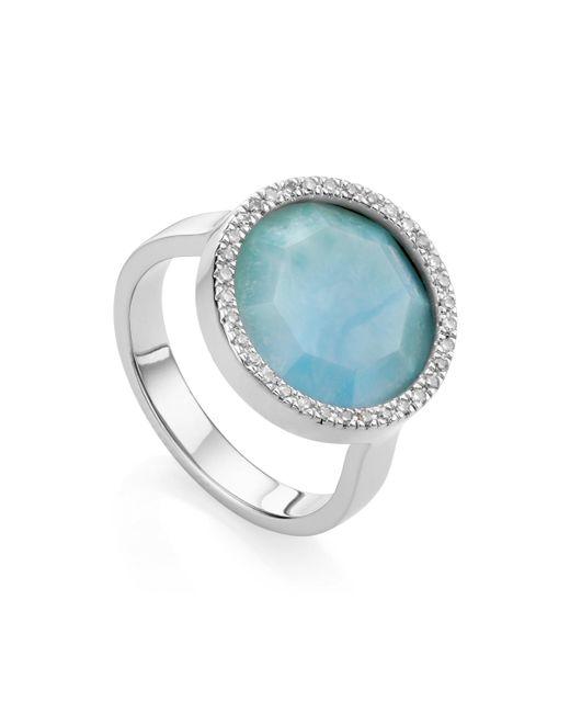 Monica Vinader | Metallic Naida Circle Ring | Lyst