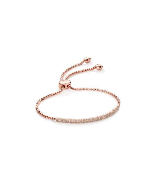 Monica Vinader - Metallic Stellar Diamond Mini Bar Bracelet - Lyst