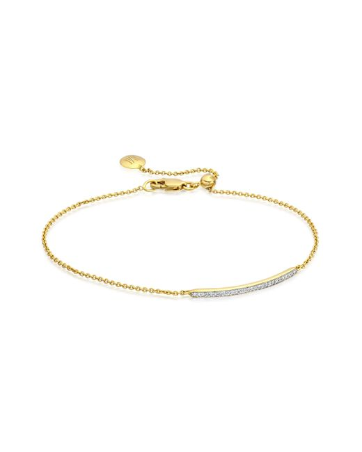 Monica Vinader | Metallic Skinny Short Bar Bracelet | Lyst