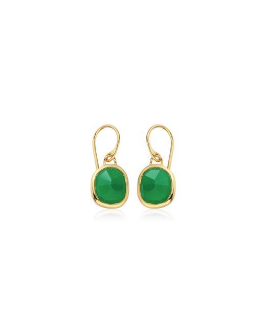 Monica Vinader   Green Siren Wire Earrings   Lyst
