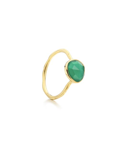 Monica Vinader   Green Siren Stacking Ring   Lyst