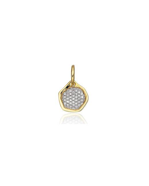 Monica Vinader | Metallic Riva Diamond Mini Pendant | Lyst