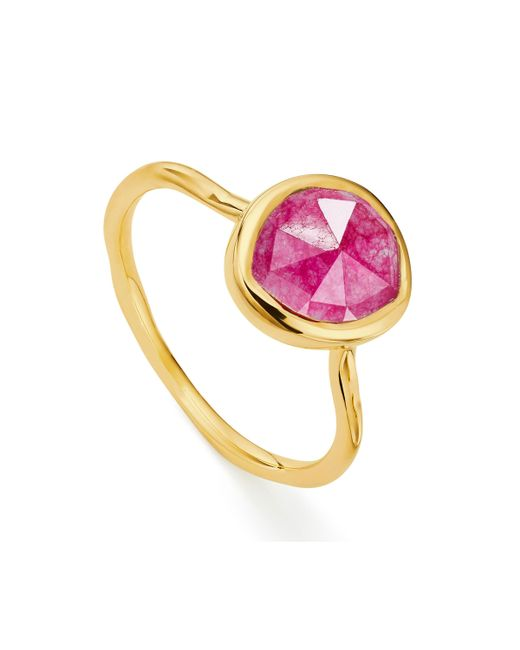 Monica Vinader - Pink Siren Stacking Ring - Lyst