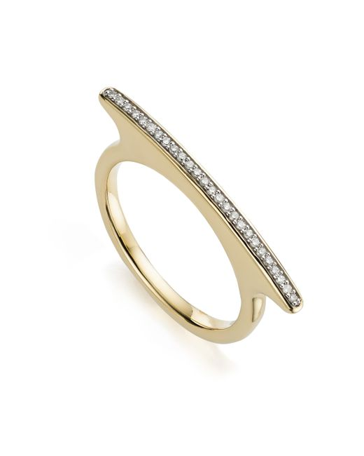 Monica Vinader | Metallic Skinny Bar Ring | Lyst