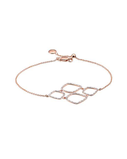 Monica Vinader | Pink Riva Diamond Cluster Bracelet | Lyst