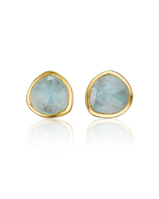 Monica Vinader | Blue Siren Stud Earrings | Lyst