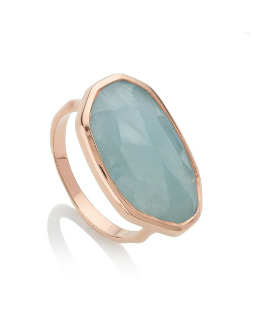 Monica Vinader | Blue Capri Ring | Lyst