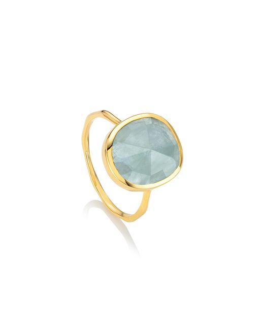 Monica Vinader | Blue Siren Medium Stacking Ring | Lyst