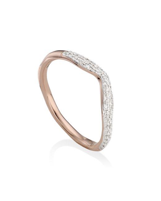 Monica Vinader   Metallic Riva Diamond Wave Stacking Ring   Lyst