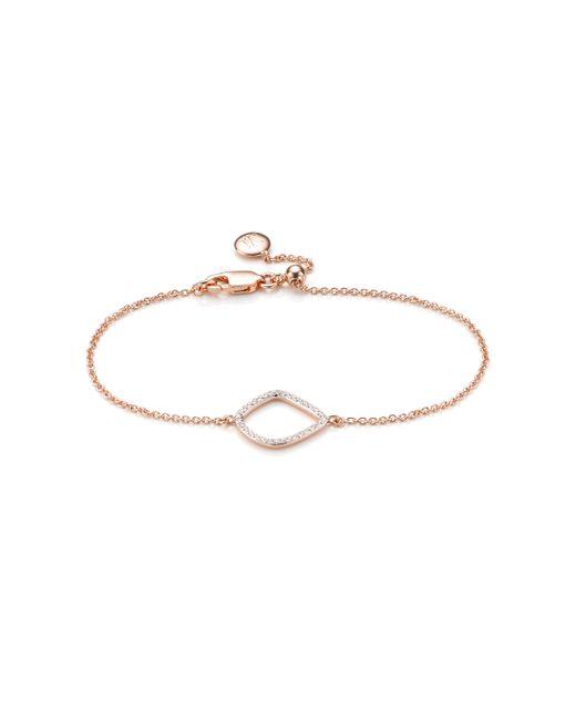 Monica Vinader | Metallic Riva Diamond Kite Chain Bracelet | Lyst