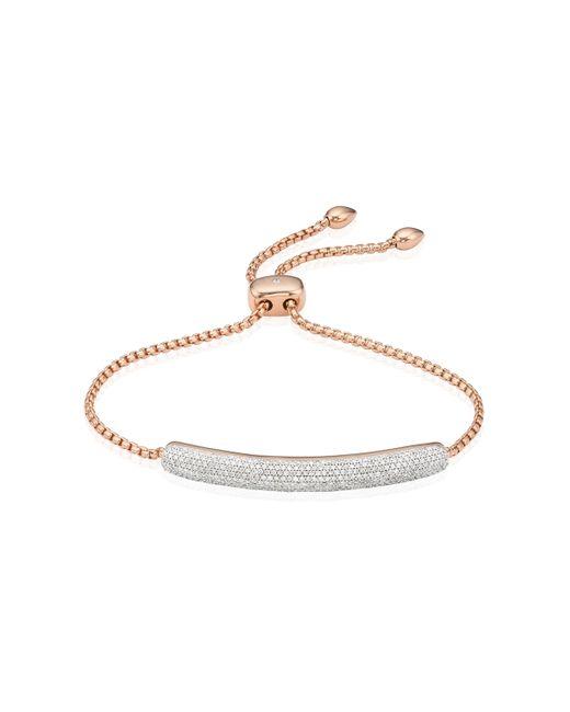 Monica Vinader | Pink Esencia Diamond Bar Bracelet | Lyst