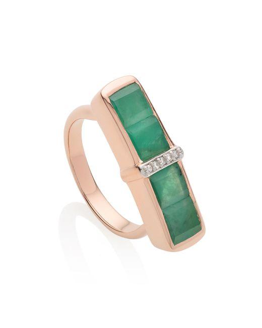 Monica Vinader | Green Baja Precious Ring | Lyst
